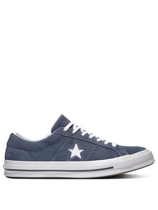 sale retailer 66199 3be9b Converse One Star Suede Ox - Navy White