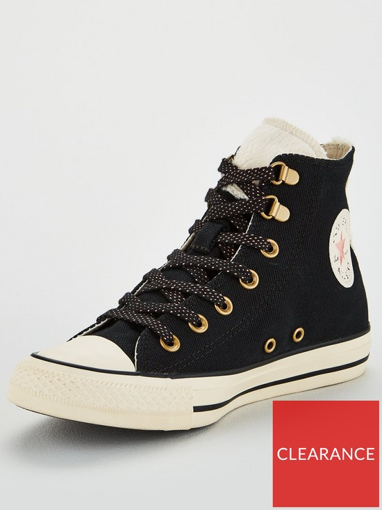 9b7acfcc43b8 Converse Chuck Taylor All Star Hi - Black Cream