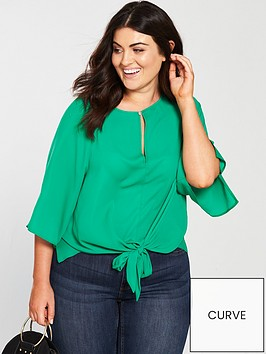 v-by-very-curve-knot-front-blouse-greennbsp