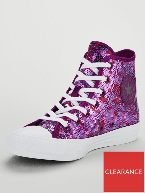 0211d641369c8f Converse Chuck Taylor All Star Sequin - Violet