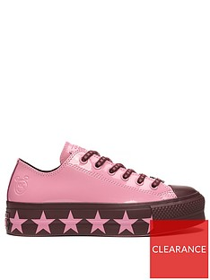 965039bd4f0 Converse X Miley Cyrus All Star Patent Lift - Pink