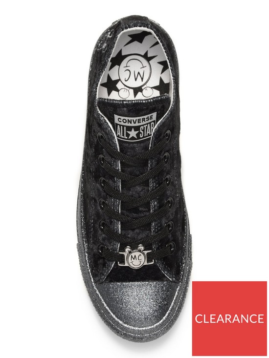 0e9fadb22ea2 ... Converse Chuck Taylor Miley Cyrus Velvet Glitter All Star - Black  Glitter. View larger