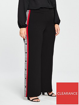v-by-very-curve-wide-leg-side-stripe-popper-trouser-black