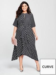 v-by-very-curve-mixed-spot-print-dip-hem-dress-printed