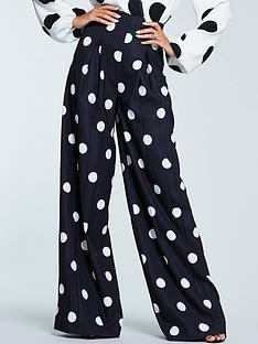 michelle-keegan-spot-wide-leg-trouser-monochrome
