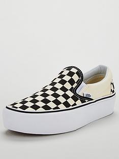 Vans Classic Checkerboard Slip-on Platform - Monochrome 3b6b35819418b