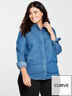 v-by-very-curve-yoke-detail-denim-shirt