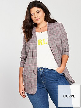 v-by-very-curve-longline-blazer-check