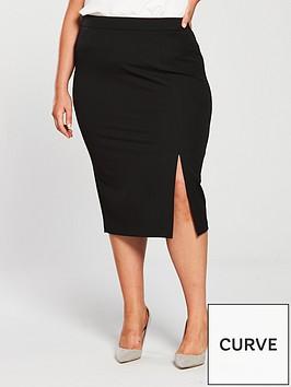 v-by-very-curve-body-sculpt-pencil-skirt-black