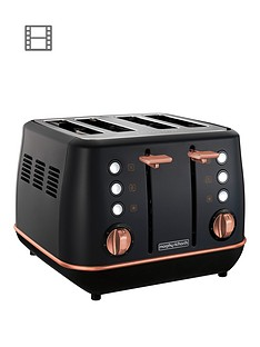 morphy-richards-evoke-4-slice-toaster-black-rose-gold