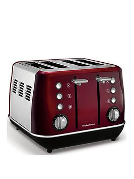 Morphy Richards Evoke 4-Slice Toaster - Red thumbnail