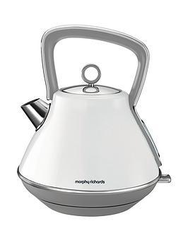Morphy Richards Evoke Pyramid Kettle 100109 Traditional Kettle White Best Price and Cheapest