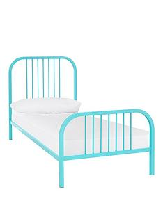 harper-metal-kids-single-bed-frame-with-mattress-options-buy-and-save--nbspmint