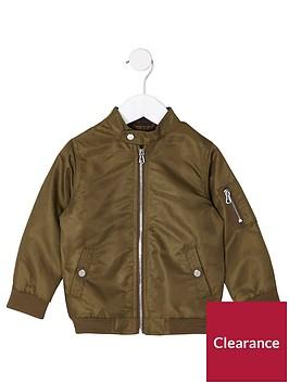 river-island-mini-boys-khaki-racer-neck-bomber-jacket