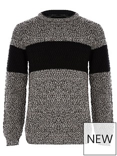 river-island-boys-grey-block-colour-jumper