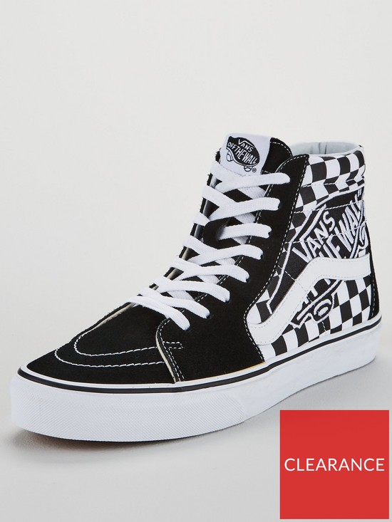 ed54d84a89 Vans Checkerboard Sk8-Hi Trainers - Black White