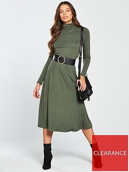 v-by-very-roll-neck-midi-dress-khaki