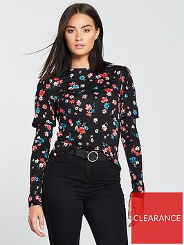 v-by-very-mutton-sleeve-top-floral-print