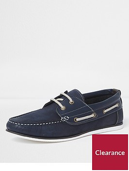 river-island-navy-leather-boat-shoes