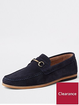 river-island-navy-suede-tadley-snaffle-loafer
