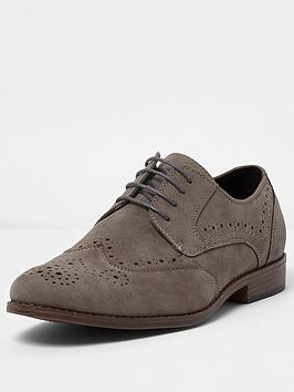 river-island-target-suedette-brogue