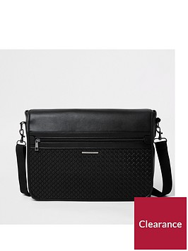 river-island-river-island-bag-tech-monogram-messenger-bag