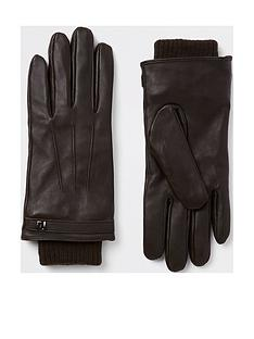river-island-leather-gloves-brown