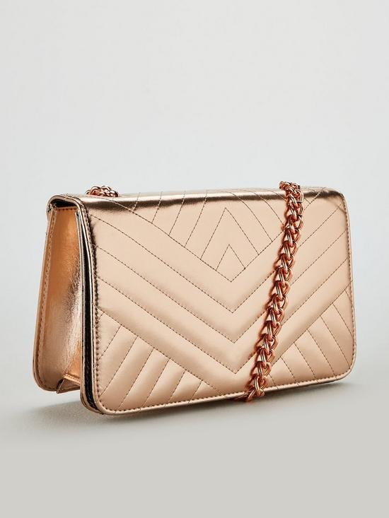 c6a7dd913 ... V by Very Pippa Quilted Crossbody Bag - Rose Gold. View larger