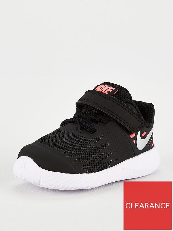 Estación acerca de arco  Nike Star Runner V Infant Trainers - Black/Pink | very.co.uk