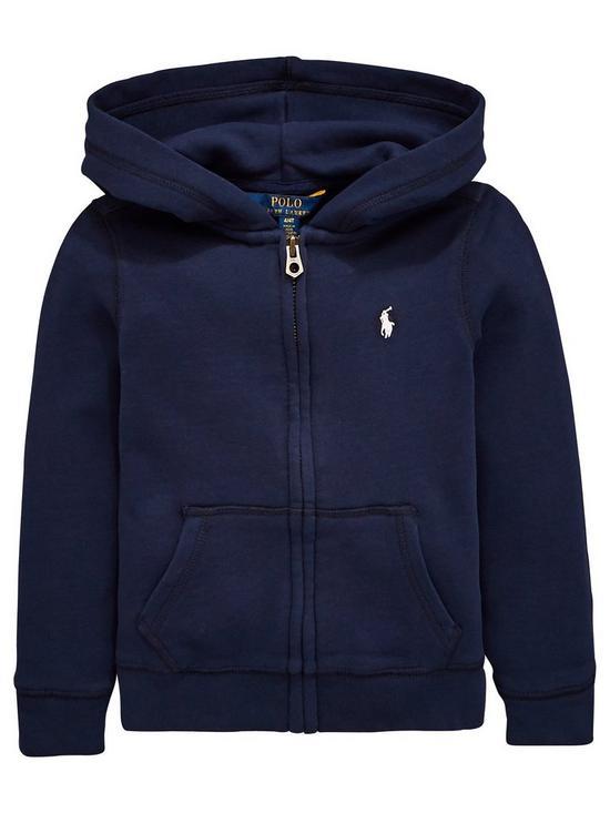 660073d7 Girls Zip Through Hooded Jacket - Navy