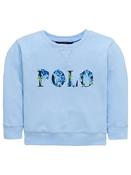 ralph-lauren-girls-polo-printed-crew-neck-sweat-blue