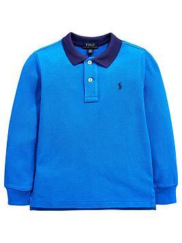 ralph-lauren-boys-long-sleeve-contrast-collar-polo-blue