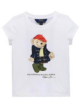 Ralph Lauren Girls Short Sleeve Bear T-Shirt thumbnail