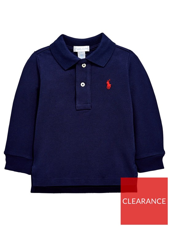68c5d432 Ralph Lauren Baby Boys Classic Long Sleeve Polo Shirt - Navy | very ...