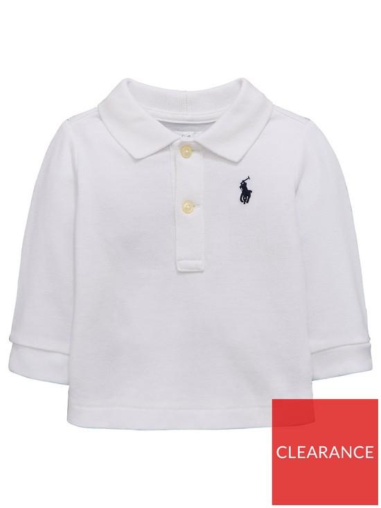 aad2abb6c185 Ralph Lauren Baby Boys Classic Long Sleeve Polo Shirt - White