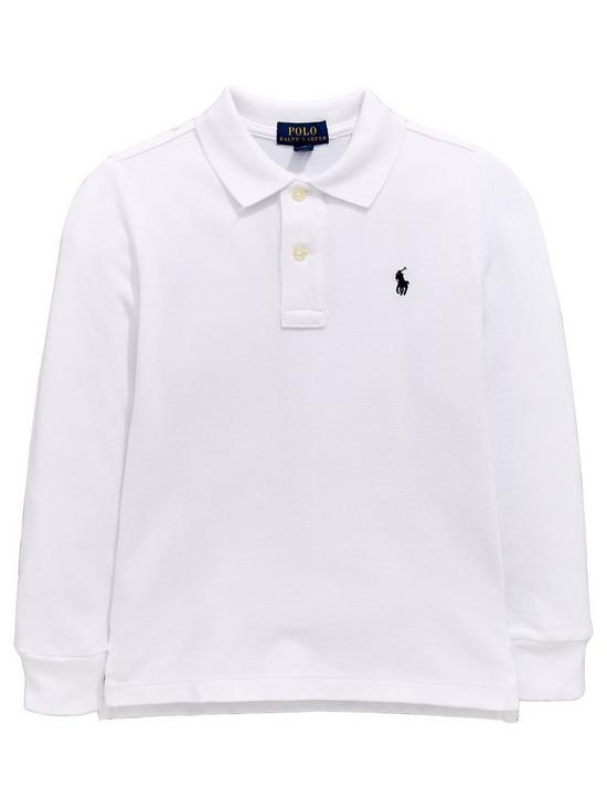 f59207e44 Ralph Lauren Boys Classic Long Sleeve Polo Shirt - White   very.co.uk