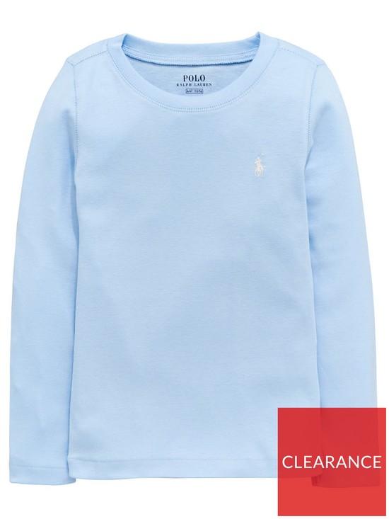 80b758568 Ralph Lauren Girls Classic Long Sleeve T-Shirt - Blue