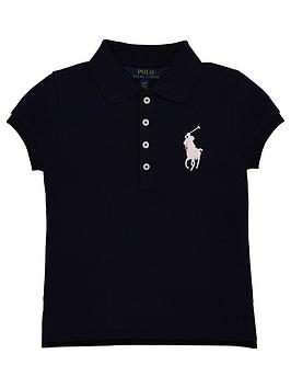 ralph-lauren-girls-short-sleeve-big-pony-polo-navy