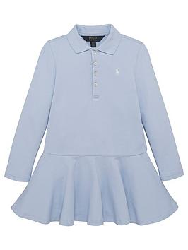 ralph-lauren-girls-classic-long-sleeve-polo-dress-blue