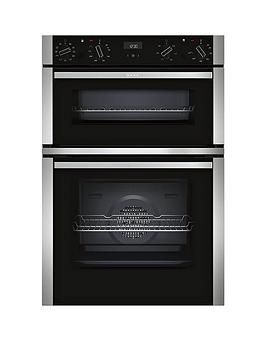 neff-u1ace5hn0bnbsp60cm-built-in-double-oven-with-circothermreg-stainless-steel