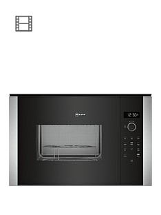 neff-hlagd53n0b-built-in-microwave-stainless-steel