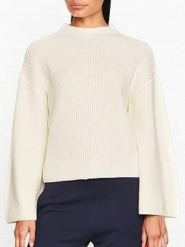 armani-exchange-wide-sleeve-jumper-white