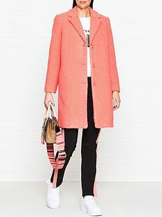 armani-exchange-sherpa-caban-coat-pink