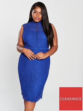 v-by-very-curve-high-neck-lace-pencil-dress-blue