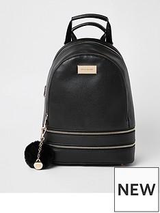river-island-river-island-medium-sized-backpack--black
