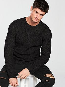 river-island-lupin-textured-crew-jumper