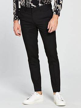 river-island-black-smt-trs-black-ultra-sk-stretch