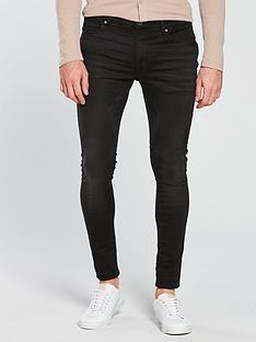 river-island-black-ollie-super-skinny-spray-on-jeans