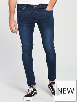 river-island-dark-blue-wash-ollie-skinny-spray-on-jeans