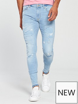 river-island-light-blue-ripped-ollie-skinny-spray-on-jeans